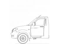 Каркас кузова УАЗ ПРОФИ однорядная кабина СЕБ(SEB)