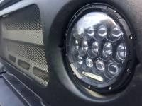 Фара светодиодная универсальная 7 дюймов 75 Вт (комплект 2 шт) с ДХО для УАЗ, Нива