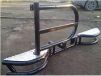 Бампер задний силовой на УАЗ 469 Тайга с кронштейном запасного колеса